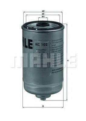 Фильтр топливный MAHLE KC 102