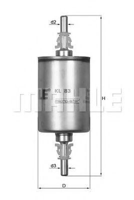 Фильтр топливный MAHLE KL83