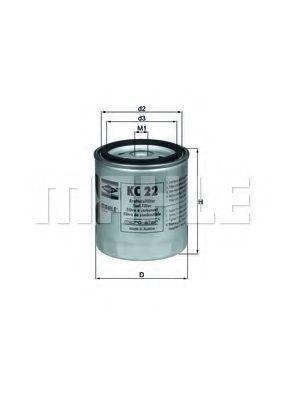 Фильтр топливный MAHLE KC22