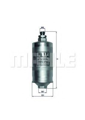 Фильтр топливный MAHLE KL17
