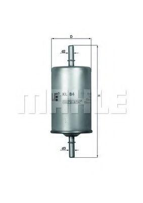 Фильтр топливный MAHLE KL 84