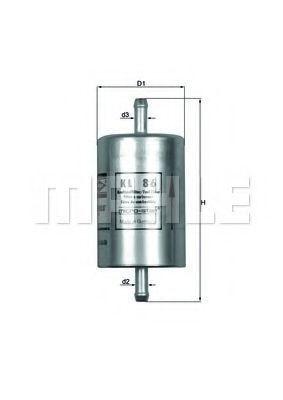 Фильтр топливный MAHLE KL86
