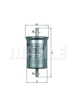 Фильтр топливный MAHLE KL 146