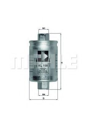 Фильтр топливный MAHLE KL158