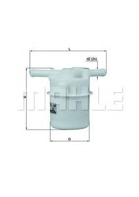 Фильтр топливный MAHLE KL 205