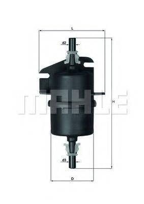 Фильтр топливный MAHLE KL238