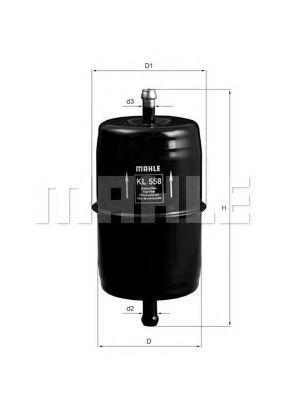 Фильтр топливный MAHLE KL 558