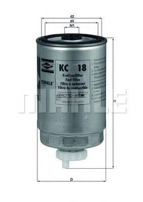 Фильтр топливный MAHLE KC18