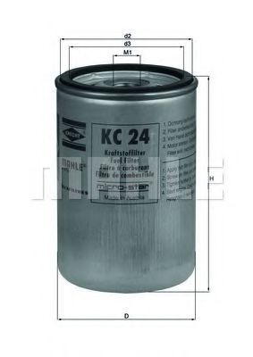 Фильтр топливный MAHLE KC24