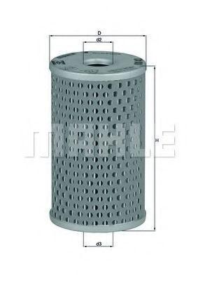 Масляный фильтр Mahle Kolben OX42