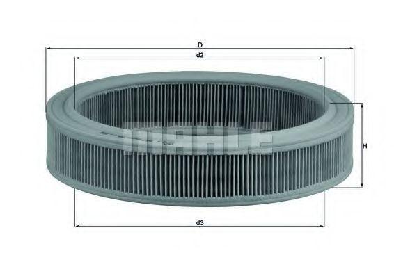 Фильтр воздушный MAHLE LX202
