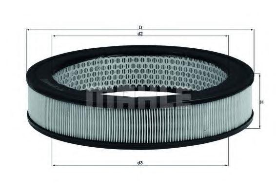 Фильтр воздушный MAHLE LX 8