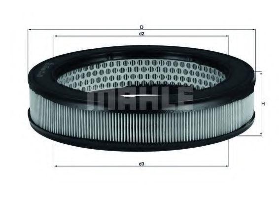 Фильтр воздушный MAHLE LX67