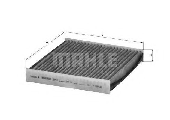 Фильтр салона угольный MAHLE LAK184