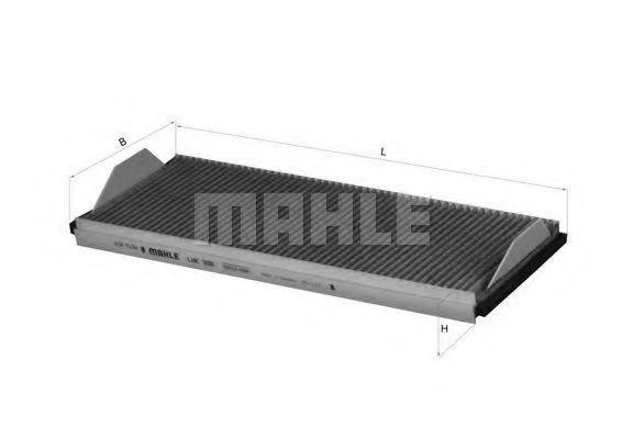 Фильтр салона угольный MAHLE LAK358