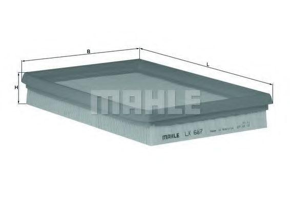 Фильтр воздушный MAHLE LX 687