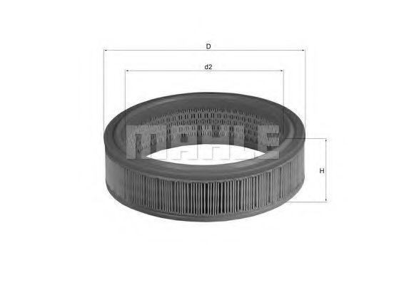 Фильтр воздушный MAHLE LX 158