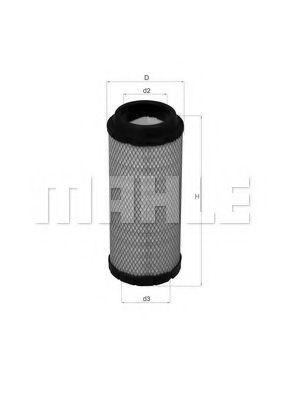 Фильтр воздушный MAHLE LX1673