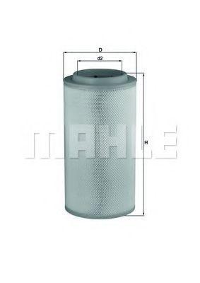 Фильтр воздушный MAHLE LX1734