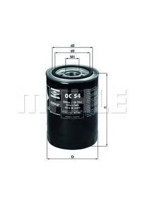 Масляный фильтр MAHLE OC54