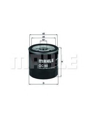 Фильтр масляный MAHLE OC90OF