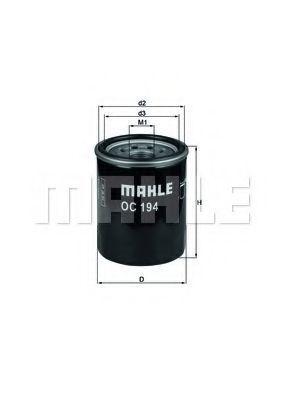 Фильтр масляный MAHLE OC194