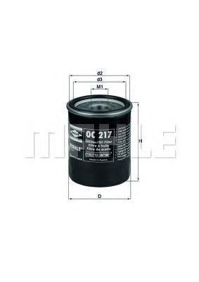 Фильтр масляный MAHLE OC217
