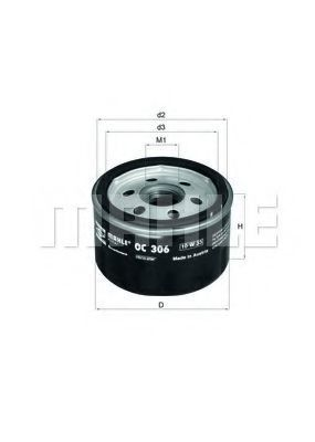 Масляный фильтр MAHLE OC306