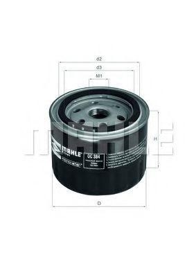 Купить Фильтр масляный MAHLE OC384