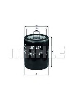 Фильтр масляный MAHLE OC478