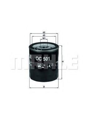 Фильтр масляный MAHLE OC501