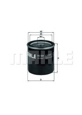 Фильтр масляный MAHLE OC534