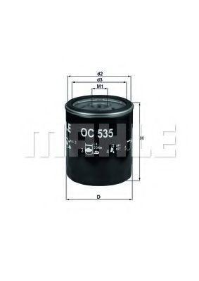 Купить Фильтр масляный MAHLE OC535