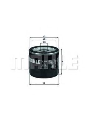 Фильтр масляный MAHLE OC606