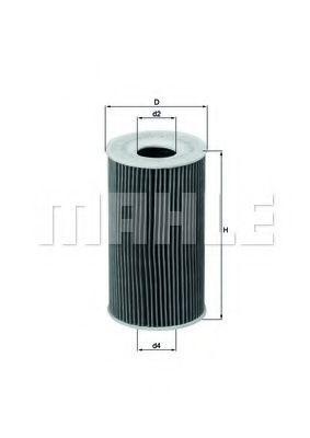 Купить Фильтр масляный MAHLE OX1281D