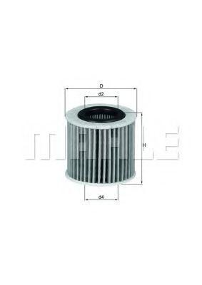 Фильтр масляный MAHLE OX416D1