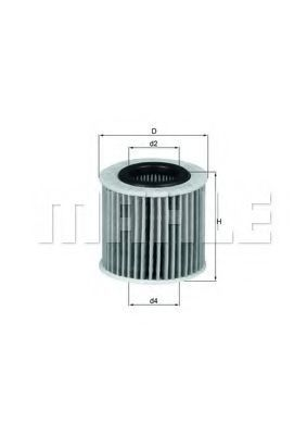 Фильтр масляный MAHLE OX416D2