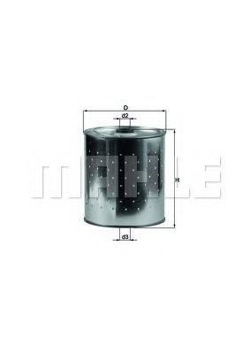 Фильтр масляный MAHLE OX 85D