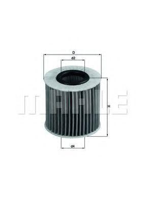 Фильтр масляный MAHLE OX414D1
