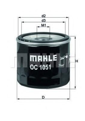 Фильтр масляный MAHLE OC1051