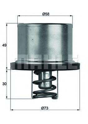 Термостат, охлаждающая жидкость MAHLE TX3779