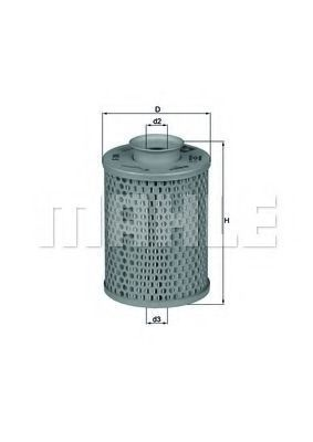 Купить Фильтр масляный MAHLE HX5