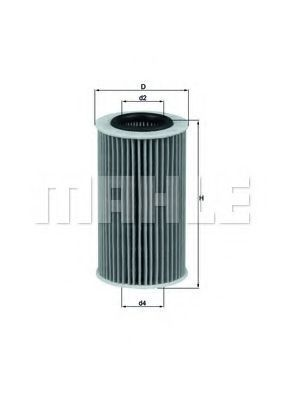 Купить Фильтр масляный MAHLE OX384D