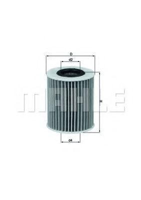 Купить Фильтр масляный MAHLE OX413D1