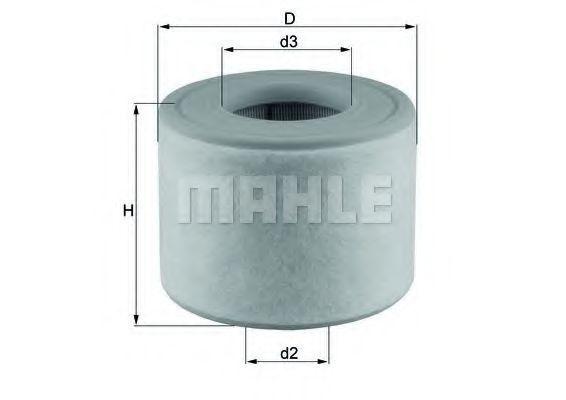 Фильтр воздушный MAHLE LX 2607/2