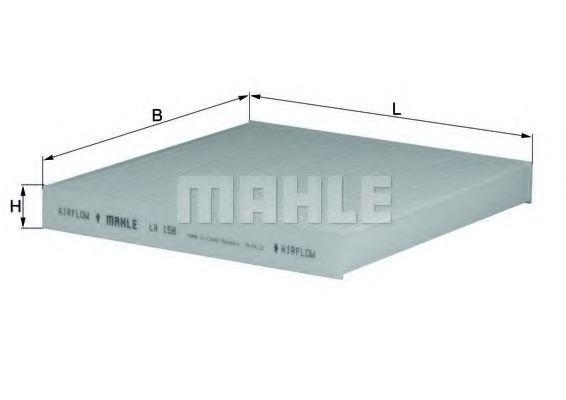 Фильтр салона MAHLE LA158