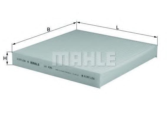 Фильтр салона MAHLE LA435