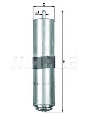 Фильтр топливный MAHLE KL763D