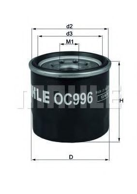 Купить Фильтр масляный MAHLE OC996