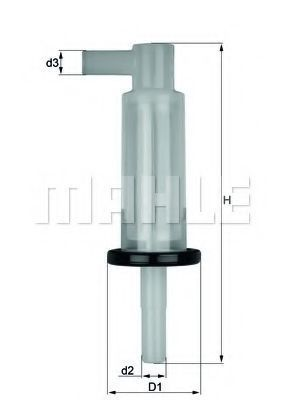 Фильтр топливный MAHLE KL33OF